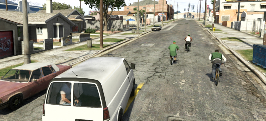 CJ,Big Smoke & Sweet in Grove Street  GTA5